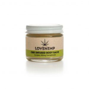 LoveHemp CBD Infused Body Salve 300mg CBD (50ml)