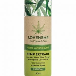 LoveHemp CBD Hemp Oil Spray 400mg (30ml)