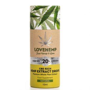 LoveHemp CBD Hemp Oil 2,000mg 20% CBD (10ml)