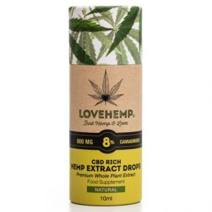 LoveHemp CBD Hemp Oil 800mg 8% CBD (10ml)