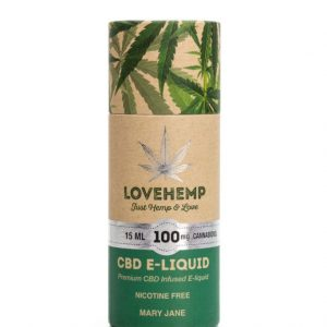 LoveHemp CBD E-liquid 100mg Cannabidiol (15ml)