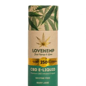 LoveHemp CBD e-liquid 250mg Cannabidiol (15ml)