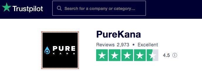 PureKana Trustpilot reviews
