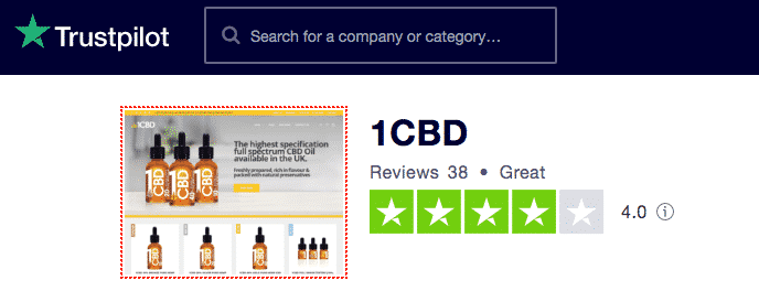 1CBD Trustpilot reviews
