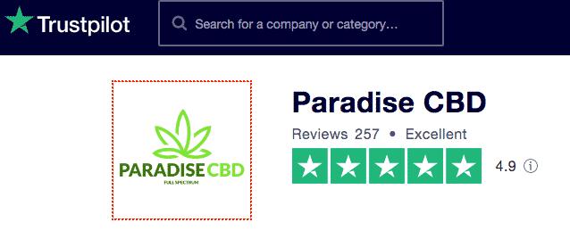 Paradise CBD trustpilot reviews