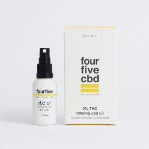 Fourfive 0% THC CBD Oil