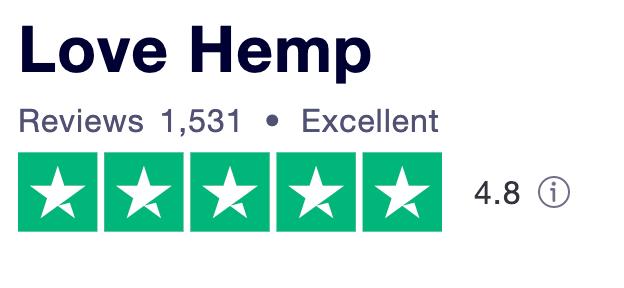 Love Hemp Trustpilot reviews