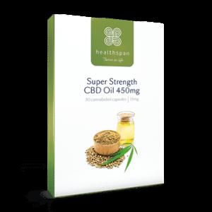 Super Strength CBD Oil Capsules from Healthspan