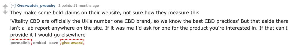 Vitality CBD reddit