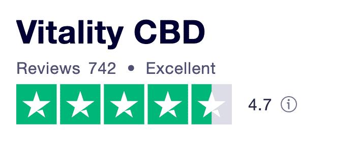 Vitality CBD Trustpilot reviews