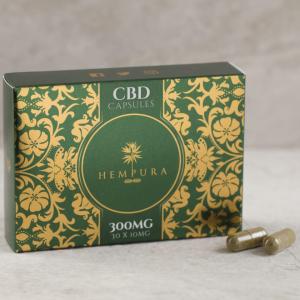 Hempura 300mg CBD capsules