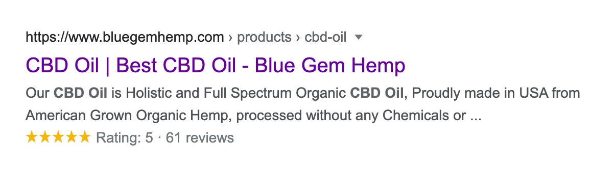 Blue Gem Hemp reviews