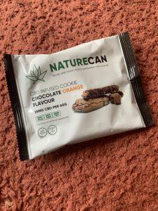 Naturecan Chocolate Orange CBD cookie packet