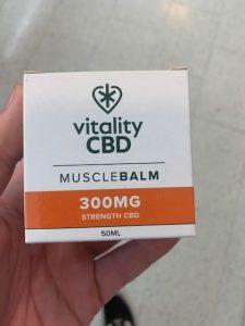 Vitality CBD muscle balm 300mg