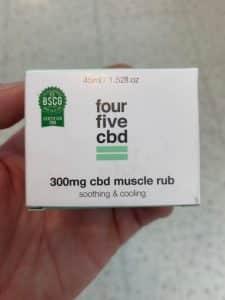FourFive CBD muscle rub 300mg