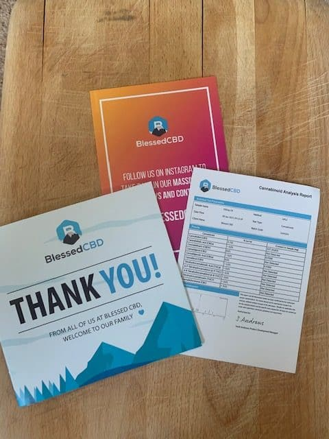 Blessed CBD information pack