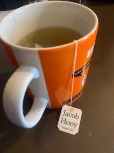 Jacob Hooy hemp tea brewing